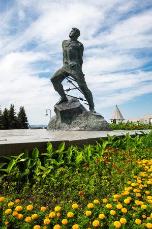 Monument of Musa Jalil near Kazan Kremlin in Kazan, capital of Republic Tatarstan, Russia