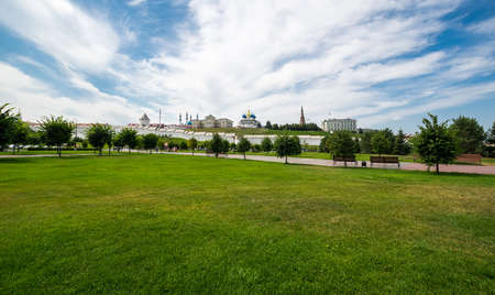 Panoramic view of the Kazan Kremlin in Kazan, Republic of Tatarstan, Russia 新闻类图片