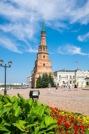 Leaning Tower Syuyumbike in the Kazan Kremlin, Kazan, Republic of Tatarstan, Russia