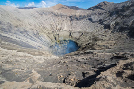 Crater of Mount Bromo, an active volcano in Bromo Tengger Semeru National Park, East Java, Indonesia
