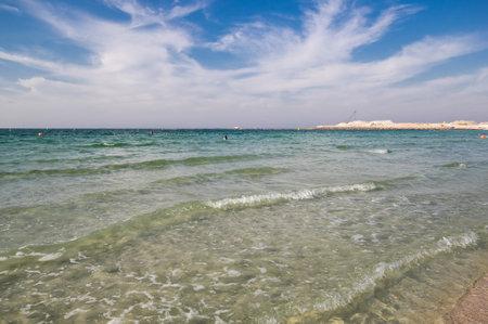 The coast of Persian Gulf in Dubai, United Arab Emirates