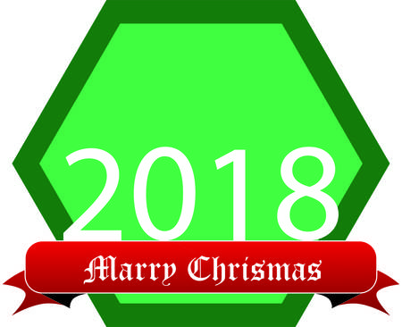 New Year 2018 card design.
