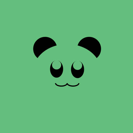 Icon of panda, The panda lives in a few mountain ranges in central China.
