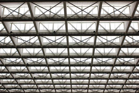 Metal design of an interior in a modern building  photo