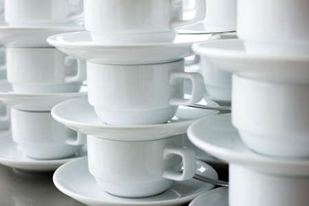 white coffee cups photo