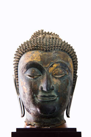 17th - 18th Century A D  head from a buddha image in Ayutthaya style photo