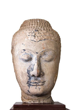 16th - 17th Century A D  head from a buddha image in Ayutthaya style photo