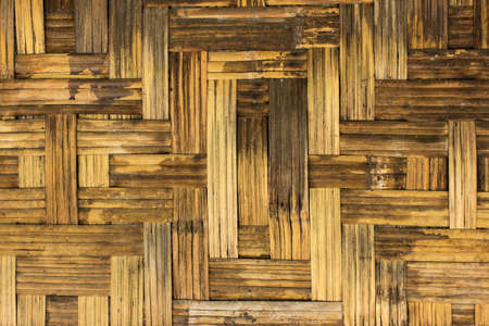 Detail of woven bamboo wall of house photo