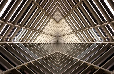 architecture and buildings: metal structure simelar to spaceship interior