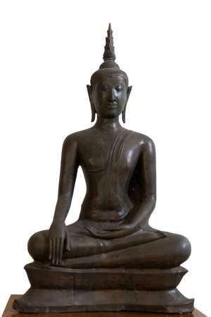 subduing: 14th-15th Century A.D. an ancient buddha subduing mara, U-Thong style, Ayutthaya, Thailand.