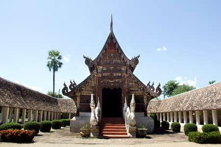 ton: Wat Ton Khen, old wooden temple in lanna style, Chiang Mai, Thailand Stock Photo