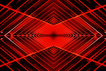 metal structure: metal structure similar to spaceship interior in the red light