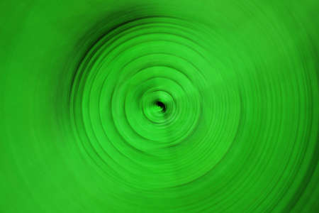abstract spiral green light blured background Stock Photo