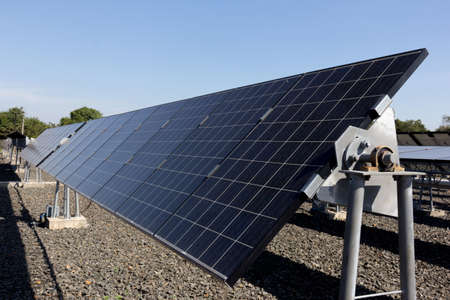 Solar cells, Power plant using renewable solar energy.