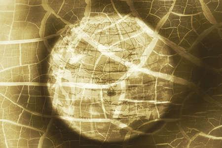 banco mundial: Juguete de la bola mundial, la ruptura de la crisis de Asia, foto abstracta Foto de archivo