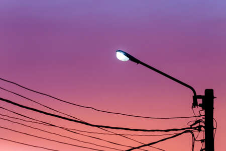 city light: Street light against twilight sky background