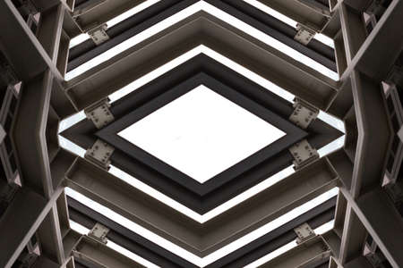 steelwork: metal structure similar to spaceship interior