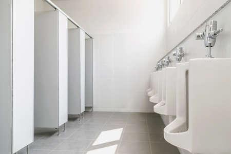 clean mens toilet in a public building