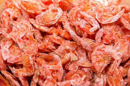 ingradient: Dry shrimp, ingredient of som tum thai food