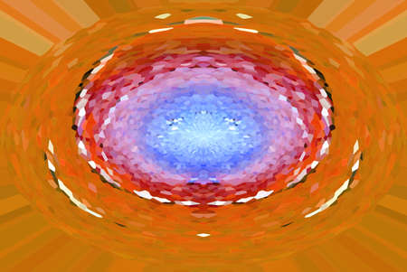 shade: abstract background, speed light colorful orange, red, blue shade color from hole at center, illustration