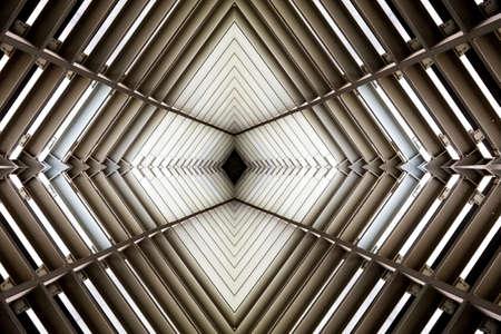 raumschiff: Metallstruktur ähnlich wie Raumschiff Innen