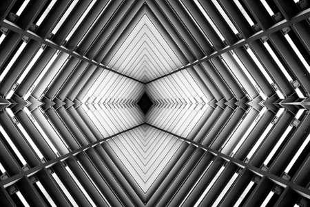 metal structure: metal structure similar to spaceship interior
