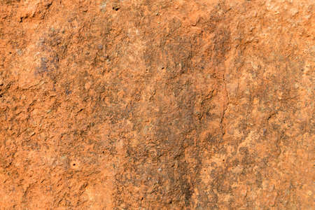 close up red color lateritic soil cross section, background and textured Reklamní fotografie