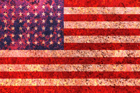 rustic american flag Reklamní fotografie