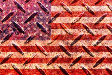 american flag on the old metal plate Reklamní fotografie