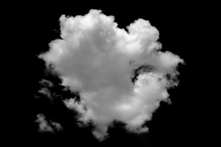 beautiful shape nature white cloud in black backgarond, nature and background concept.