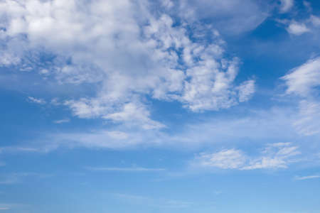 nature beautiful white cloud and blue sky background with copy space. cloud and sky background and wallpaper concept for the design. 写真素材