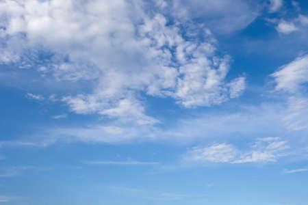 nature beautiful white cloud and blue sky background with copy space. cloud and sky background and wallpaper concept for the design. Reklamní fotografie