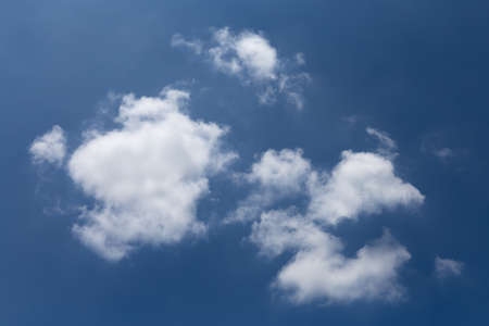 beautiful white cloud shape in the clear blue sky, nature and background concept. 写真素材
