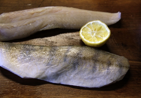 Zander fish fillets