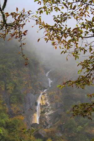 Waterfall in Himalaya mountains