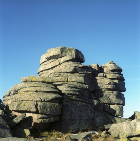Maidens rocks in Krkonose mountains
