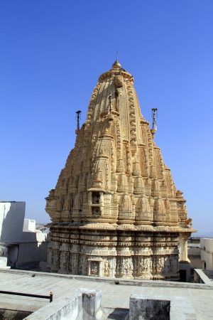 View of largest hindu temple in Udaipur, India