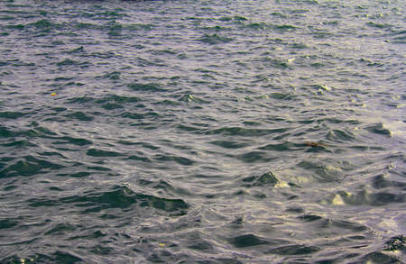 Water background with small waves reflecting light Stock Photo
