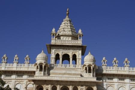 White marble cenotaph in Jodhpur, Rajasthan, India