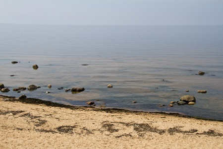 Typical baltic sea sand beach in Latvia, North Europe