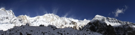 Himalayan panorama - beautiful view of Annapurna Stock Photo