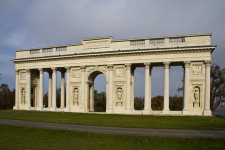 Unesco monument - antique style collonade near Valtice, Europe, Czech republic