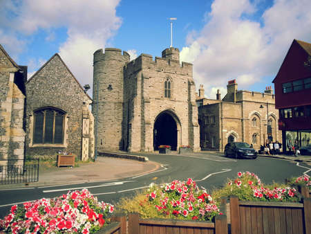 west gate: West gate of Canterbury, UK Stock Photo