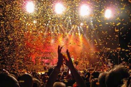 Fun concert disco and party, light background. Foto de archivo - 102126823
