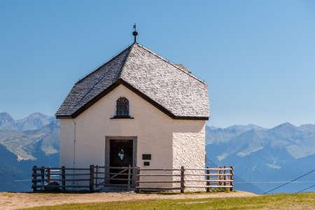 Chapel on the Kronplatz. Brunico, South Tyrol