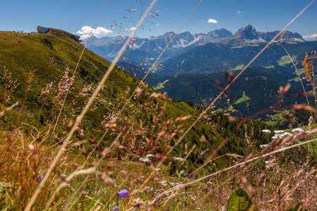View over the mountain Kronplatz. Brunico, South Tyrol Stock Photo