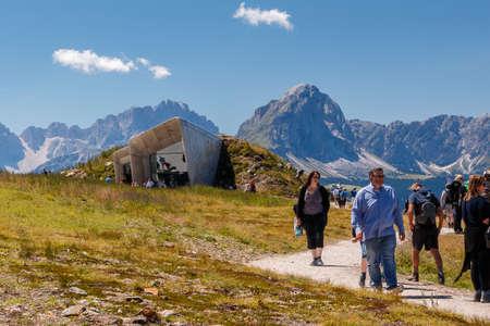 View over the mountain Kronplatz. Brunico, South Tyrol Editorial