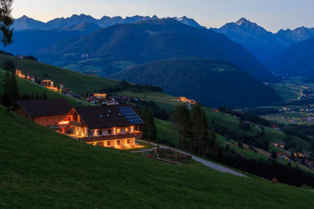 Panoramic view of Val Pusteria from Olang. South Tyrol, Italy.