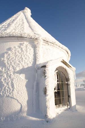 Frozen chapel  Stock Photo