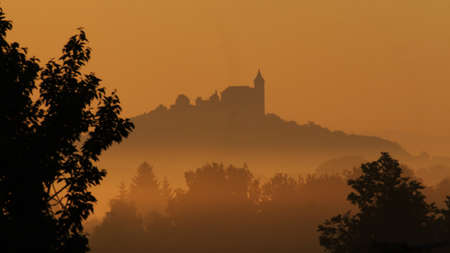 Kuneticka hora castle  Stock Photo